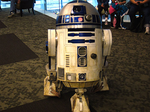 R2D2, coming over to say hi