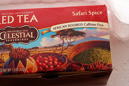 a box of Safari Spice Tea
