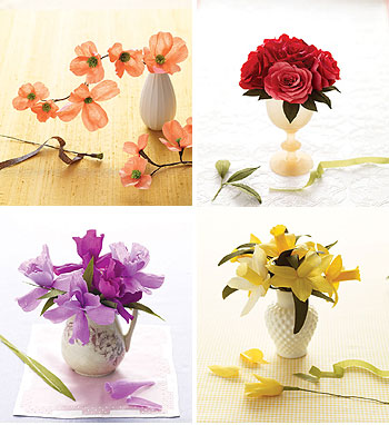 paper flowers craft. crepe paper flower kits