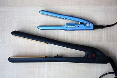 hair straightening irons, Chi original and BaByliss mini