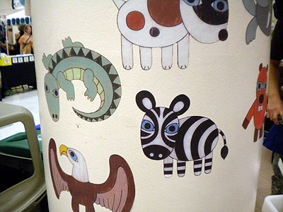 Matthew Porter reusable wall stickers