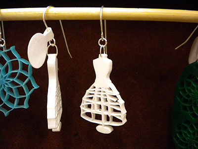 dress form earrings from Polymath Design Lab