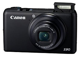 Canon S90 point and shoot camera