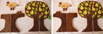 Partridge In A Pear Tree In Gingerbread