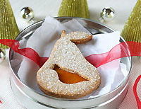 Partridge In A Pear Tree linzer cookie from Dessert First