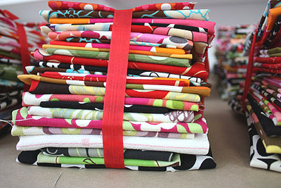 a stack of folded fabric