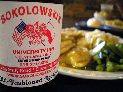perogis from Sokolowskis University Inn in Cleveland