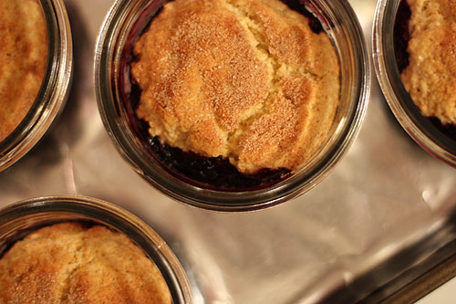 cobbler baked in jars