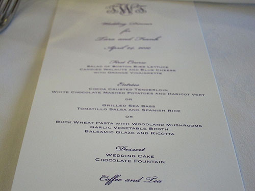 [menu at the wedding]