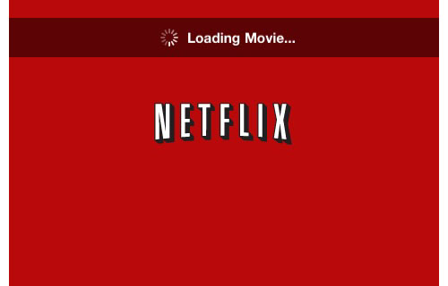 iPhone screenshot of a Netflix movie loading
