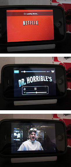 Netflix loading Dr. Horrible on my iPhone, yay!