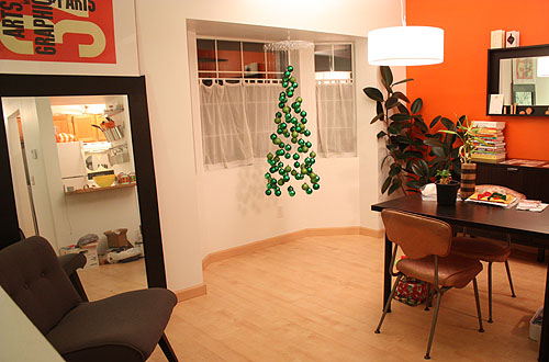 the mobile hanging in our dining room window - Not Martha €� Christmas Tree Ornament Mobile