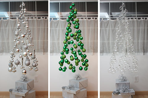 Alternative Hanging Christmas Tree