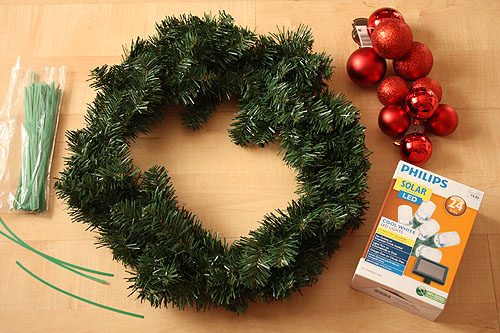 not martha — Simple DIY Solar Powered LED Christmas Wreath