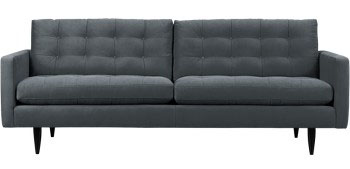 Petrie sofa from Crate and Barrel, sob