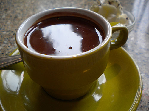 a small cup of delicious hot chocolate