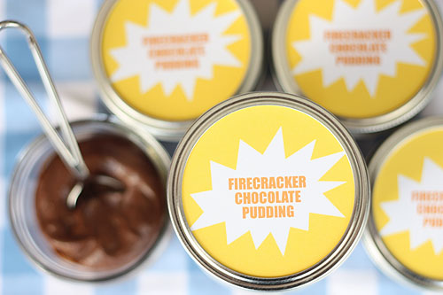 [spicy chocolate pudding in jars]