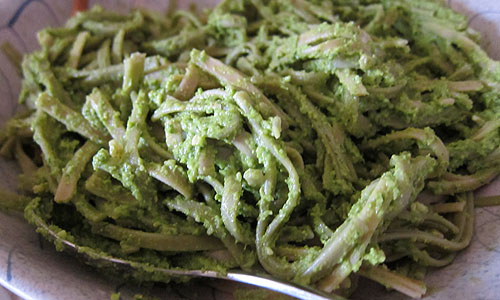 asparagus and spinach pesto