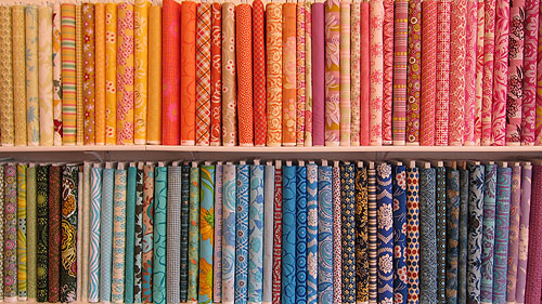 Fabric Crush, colorful bolts lined up