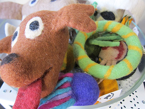 felted dog toys