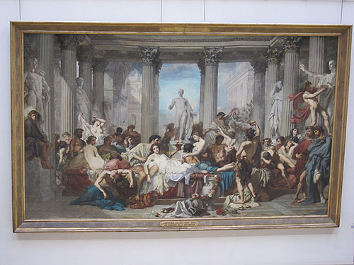 a large painting of a Roman baccanalian feast