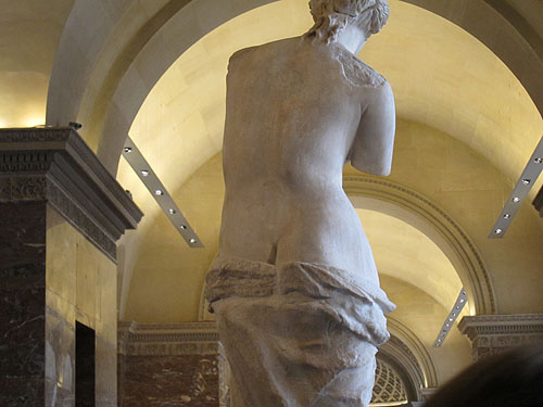 the Venus di Milo, from the back