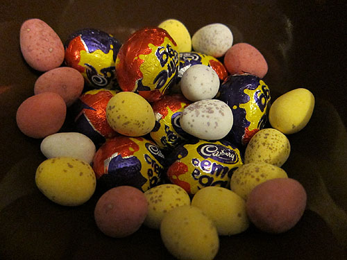 Cadbury creme eggs and mini eggs