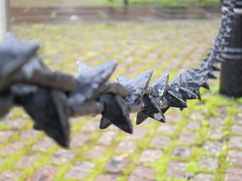 a scary, spiky chain