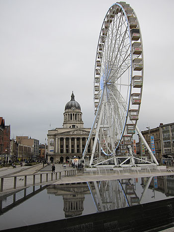 ferris wheel in the Nottingham main square