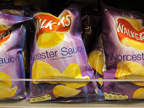 Worchester Sauce flavored chips