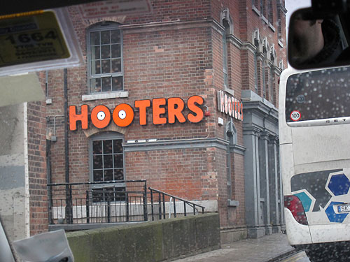a Hooters restaurant