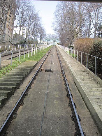funicular rails headed up