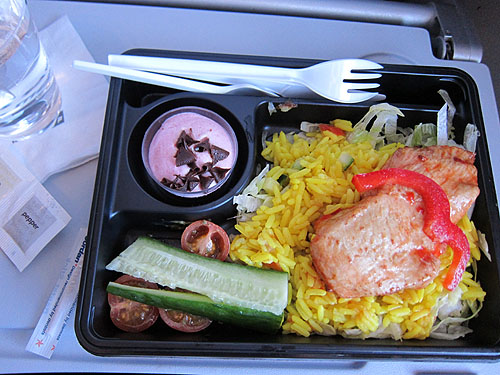 Iceland Air meal, unwrapped