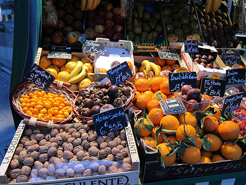 the fruit stand just across the street