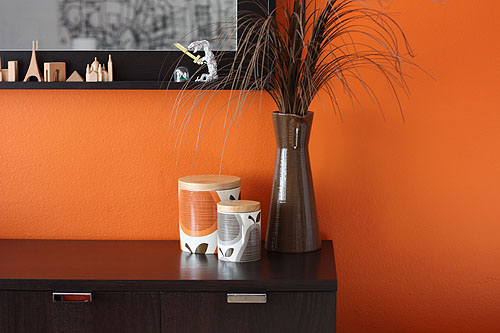 our orange dining room wall
