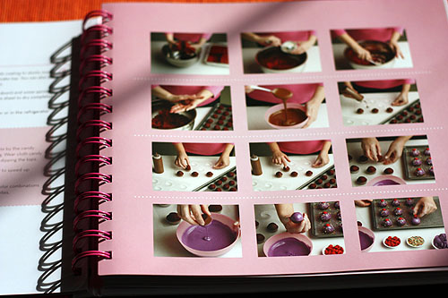 page showing pictures of how to form cake pops