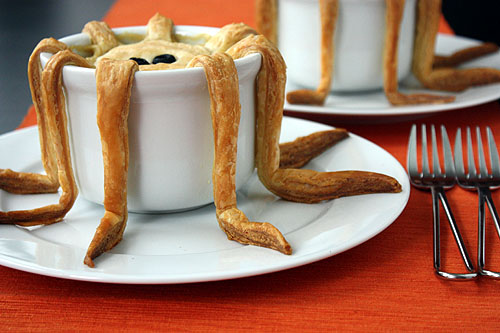 tentacle pot pie, puff pastry detail