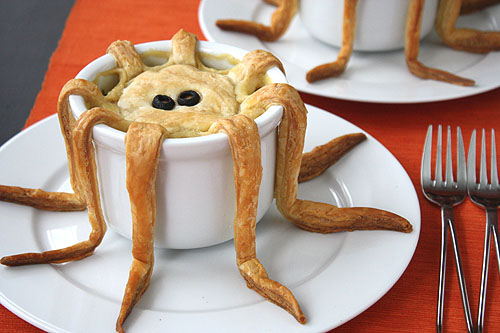 tentacle pot pie made with puff pastry, another view of the tentacles