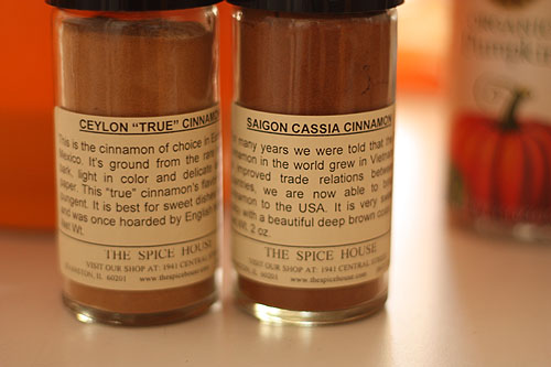 two containers of cinnamon
