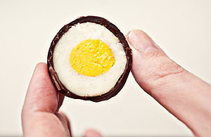 [a homemade Cadbury egg-alike]