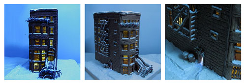Gingerbread Brownstone made by Kitchen Table Scraps