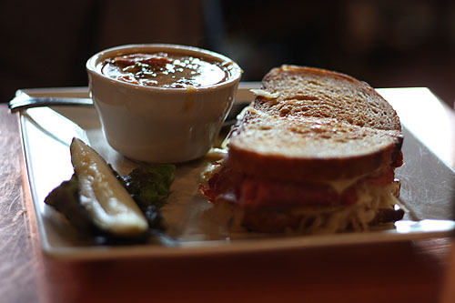 [ sandwich and soup ]