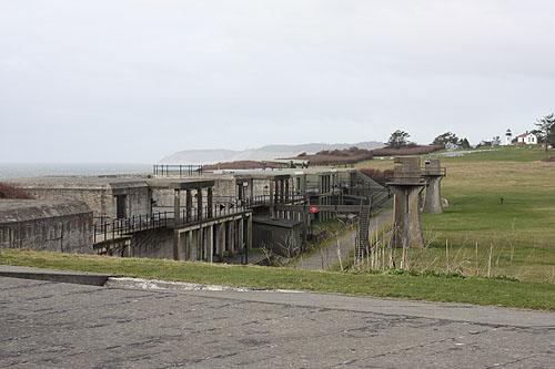[ old military fort at Fort Case on Whidbey Island ]