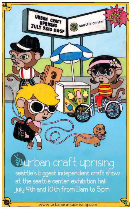Urban Craft Uprising July 9th and 10th at Seattle Center
