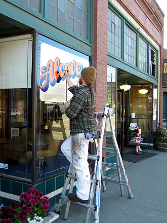 a sign painter
