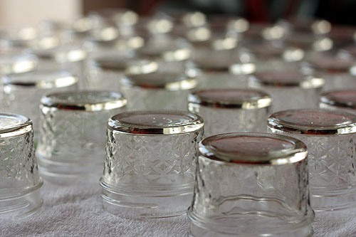 clean jars set out to dry