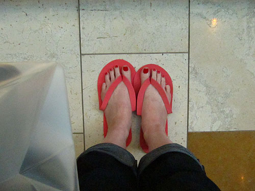 my feet at the mall