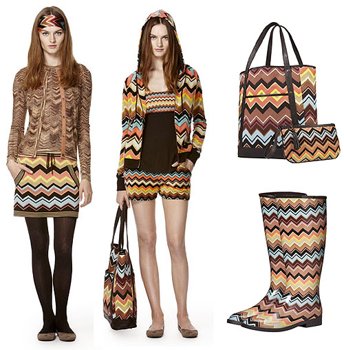 Missoni for Target items with zig zags