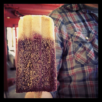 popsicle covered with pie crust crumbs