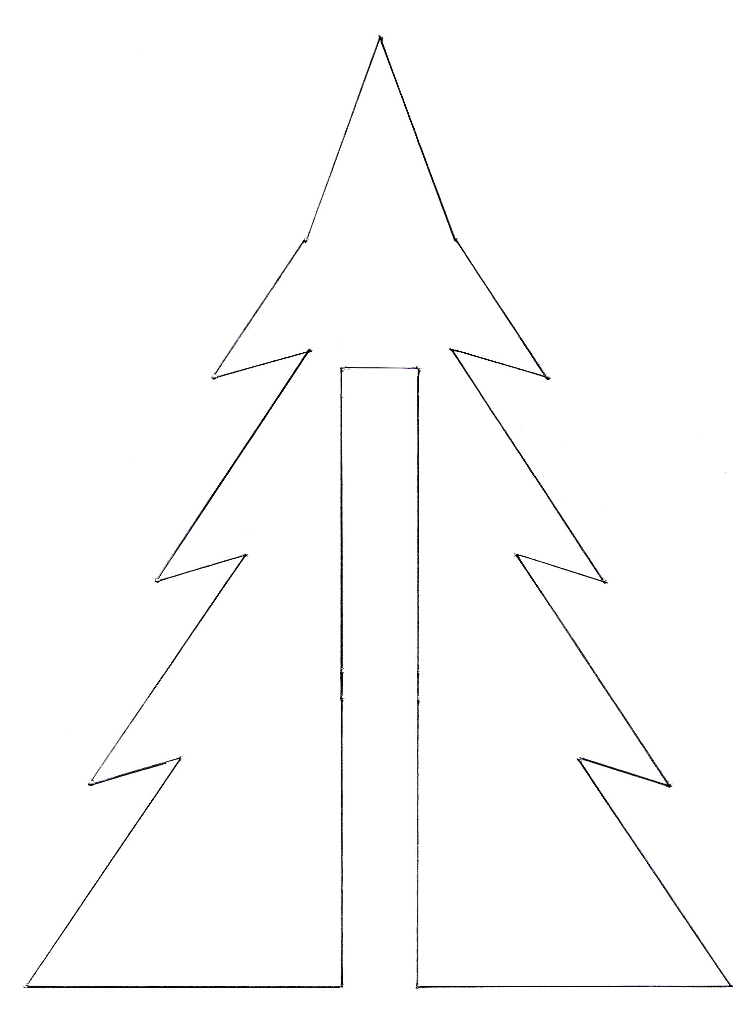 3d Christmas Tree Template Printable Not martha — 3d christmas tree ...